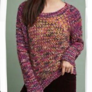 ANTHROPOLOGIE MOTH HILLWALK Chunky Knit Sweater